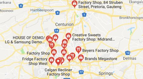 Factory Shops in Gauteng